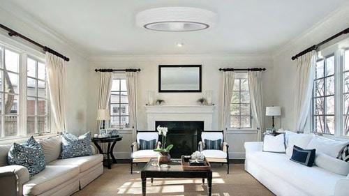 Exhale le ventilateur de plafond sans pales pour les particuliers (constructions BBC), les hotels et les musees