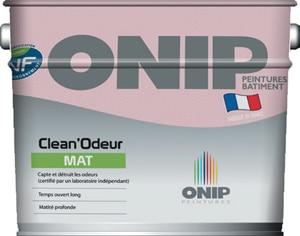 Clean'Odeur d'Onip, la 1ère peinture qui détruit les mauvaises odeurs