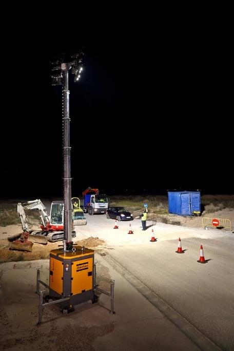 Un groupe électrogène en guise d'éclairage