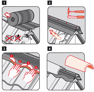Les 4 étapes de l'installation de AirPro Roll'n Go