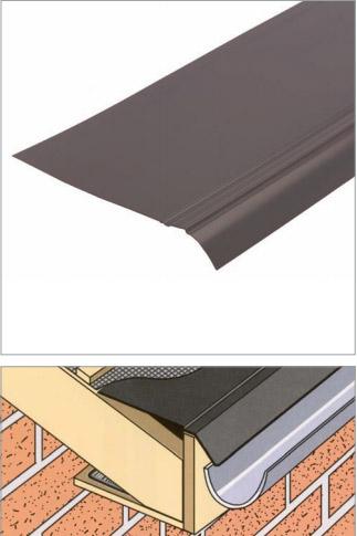 Bande d'égout en PVC rigide noir