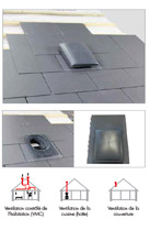 Ardoise de ventilation universelle DN150 - Klöber