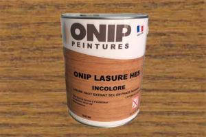 Nouvelle lasure « Onip LASURE H.E.S » pour entretenir les boiseries extérieures et intérieures.