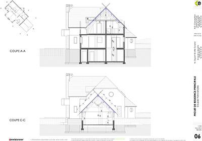 plan coupe maison cao
